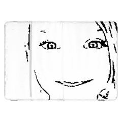 Portrait Black And White Girl Samsung Galaxy Tab 8 9  P7300 Flip Case by yoursparklingshop