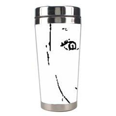 Portrait Black And White Girl Stainless Steel Travel Tumblers by yoursparklingshop