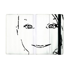 Portrait Black And White Girl Ipad Mini 2 Flip Cases by yoursparklingshop