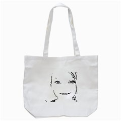Portrait Black And White Girl Tote Bag (white) by yoursparklingshop