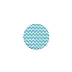 Blue White Chevron 1  Mini Buttons by yoursparklingshop