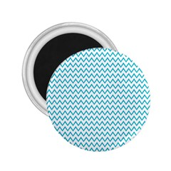 Blue White Chevron 2 25  Magnets by yoursparklingshop