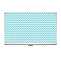 Blue White Chevron Business Card Holders by yoursparklingshop