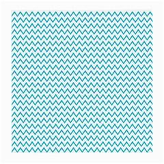 Blue White Chevron Medium Glasses Cloth by yoursparklingshop