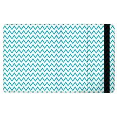 Blue White Chevron Apple Ipad 2 Flip Case by yoursparklingshop