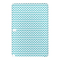 Blue White Chevron Samsung Galaxy Tab Pro 10 1 Hardshell Case by yoursparklingshop