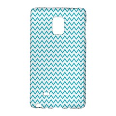 Blue White Chevron Galaxy Note Edge by yoursparklingshop