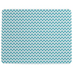 Blue White Chevron Jigsaw Puzzle Photo Stand (rectangular) by yoursparklingshop