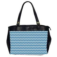 Dark Blue White Chevron  Office Handbags (2 Sides)  by yoursparklingshop