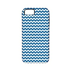 Dark Blue White Chevron  Apple Iphone 5 Classic Hardshell Case (pc+silicone) by yoursparklingshop