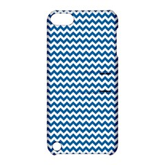Dark Blue White Chevron  Apple Ipod Touch 5 Hardshell Case With Stand by yoursparklingshop