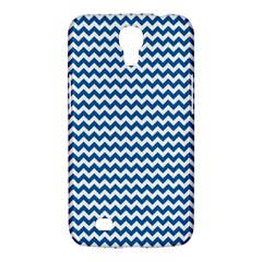 Dark Blue White Chevron  Samsung Galaxy Mega 6 3  I9200 Hardshell Case by yoursparklingshop