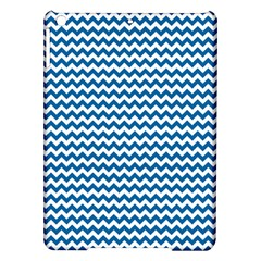 Dark Blue White Chevron  Ipad Air Hardshell Cases by yoursparklingshop