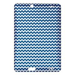 Dark Blue White Chevron  Amazon Kindle Fire HD (2013) Hardshell Case by yoursparklingshop