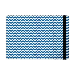 Dark Blue White Chevron  Ipad Mini 2 Flip Cases by yoursparklingshop