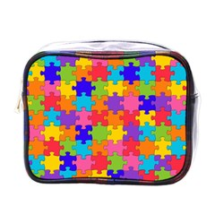 Funny Colorful Puzzle Pieces Mini Toiletries Bags by yoursparklingshop
