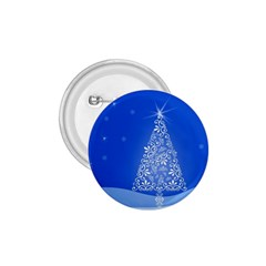 Blue White Christmas Tree 1 75  Buttons by yoursparklingshop