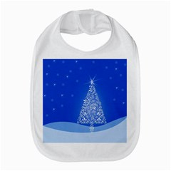 Blue White Christmas Tree Bib by yoursparklingshop