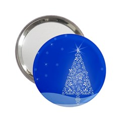 Blue White Christmas Tree 2 25  Handbag Mirrors by yoursparklingshop