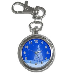 Blue White Christmas Tree Key Chain Watches by yoursparklingshop
