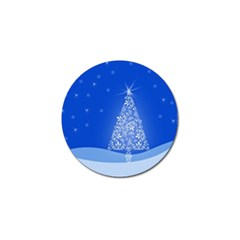 Blue White Christmas Tree Golf Ball Marker (4 Pack) by yoursparklingshop