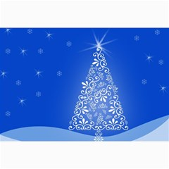 Blue White Christmas Tree Collage 12  X 18  by yoursparklingshop