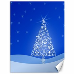 Blue White Christmas Tree Canvas 36  X 48   by yoursparklingshop