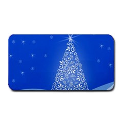 Blue White Christmas Tree Medium Bar Mats by yoursparklingshop