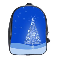 Blue White Christmas Tree School Bags(large)  by yoursparklingshop
