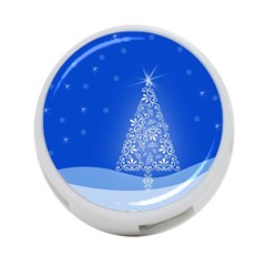 Blue White Christmas Tree 4 Port Usb Hub (two Sides)  by yoursparklingshop