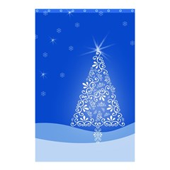 Blue White Christmas Tree Shower Curtain 48  X 72  (small)  by yoursparklingshop