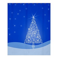 Blue White Christmas Tree Shower Curtain 60  X 72  (medium)  by yoursparklingshop