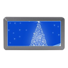 Blue White Christmas Tree Memory Card Reader (mini) by yoursparklingshop