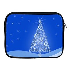 Blue White Christmas Tree Apple Ipad 2/3/4 Zipper Cases by yoursparklingshop