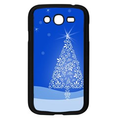 Blue White Christmas Tree Samsung Galaxy Grand Duos I9082 Case (black) by yoursparklingshop