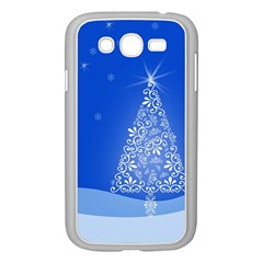 Blue White Christmas Tree Samsung Galaxy Grand Duos I9082 Case (white) by yoursparklingshop