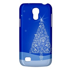 Blue White Christmas Tree Galaxy S4 Mini by yoursparklingshop