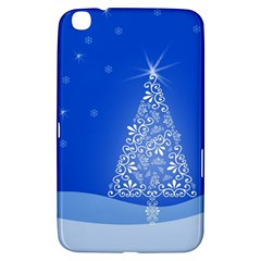 Blue White Christmas Tree Samsung Galaxy Tab 3 (8 ) T3100 Hardshell Case  by yoursparklingshop