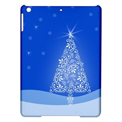 Blue White Christmas Tree Ipad Air Hardshell Cases by yoursparklingshop