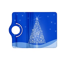 Blue White Christmas Tree Kindle Fire Hd (2013) Flip 360 Case by yoursparklingshop