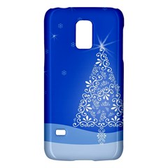 Blue White Christmas Tree Galaxy S5 Mini by yoursparklingshop