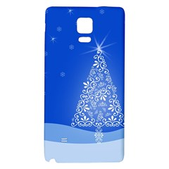 Blue White Christmas Tree Galaxy Note 4 Back Case by yoursparklingshop