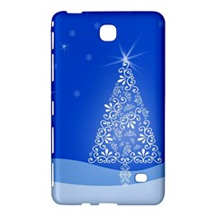 Blue White Christmas Tree Samsung Galaxy Tab 4 (8 ) Hardshell Case  by yoursparklingshop