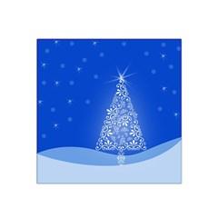 Blue White Christmas Tree Satin Bandana Scarf by yoursparklingshop