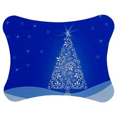 Blue White Christmas Tree Jigsaw Puzzle Photo Stand (bow) by yoursparklingshop