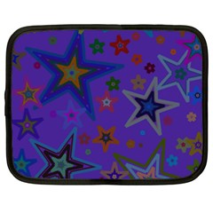 Purple Christmas Party Stars Netbook Case (xxl)  by yoursparklingshop