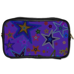 Purple Christmas Party Stars Toiletries Bags 2 Side by yoursparklingshop