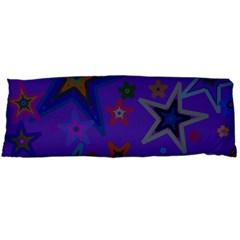 Purple Christmas Party Stars Body Pillow Case (dakimakura) by yoursparklingshop