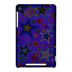 Purple Christmas Party Stars Nexus 7 (2012) by yoursparklingshop