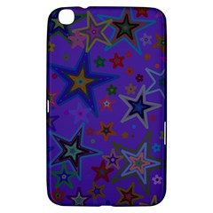 Purple Christmas Party Stars Samsung Galaxy Tab 3 (8 ) T3100 Hardshell Case  by yoursparklingshop